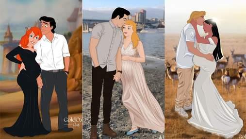 Принцессы Disney – беременны: веселые картинки