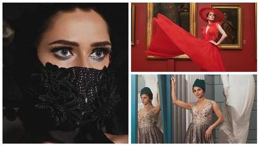 У масках та розкішних сукнях: Астаф'єва, Саніна та Гвоздьова знялися у вишуканій фотосесії