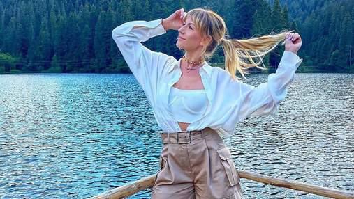 Леся Никитюк отправилась на озеро Синевир: живописные фото