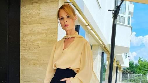 В платье с пикантным декольте: Оля Фреймут поделилась секретами стиля