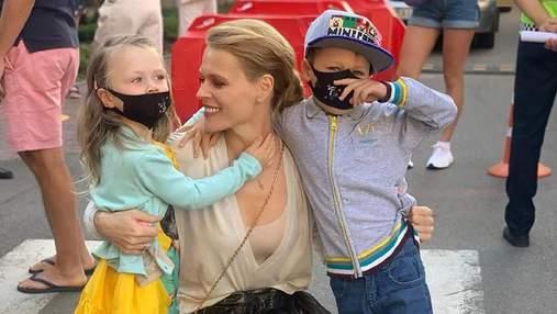 Ольга Фреймут отвела 3-летнюю дочь в школу: яркие фото