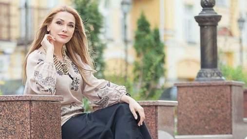 В вышиванке и с веночком: Ольга Сумская очаровала украинцев образом – фото