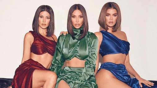 У шовкових сукнях: сестри Кардашян засвітили стрункі ноги та розбурхали мережу