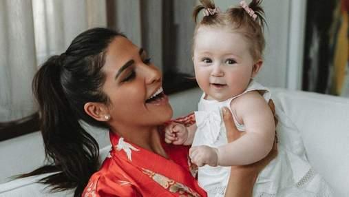 Санта Димопулос поздравила дочь с первым днем рождения: трогательные фото