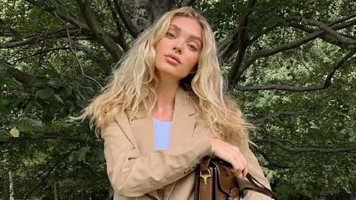 В бежевом жакете и брюках: Эльза Хоск показала трендовый образ