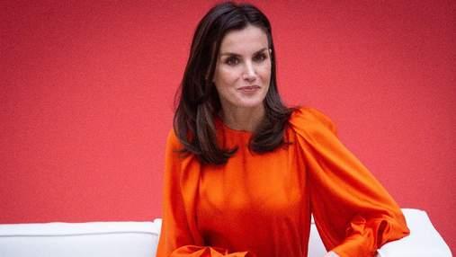 В лавандовом костюме: королева Летиция продемонстрировала безупречный образ – фото