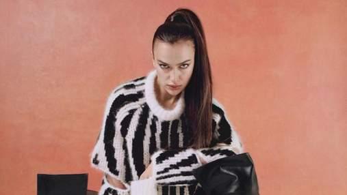 В прозрачном платье: роскошная Ирина Шейк снялась для обложки Vogue – дерзкое фото