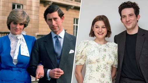 """Зірки """"Корони"""" відтворили легендарне фото принца Чарльза і принцеси Діани"""