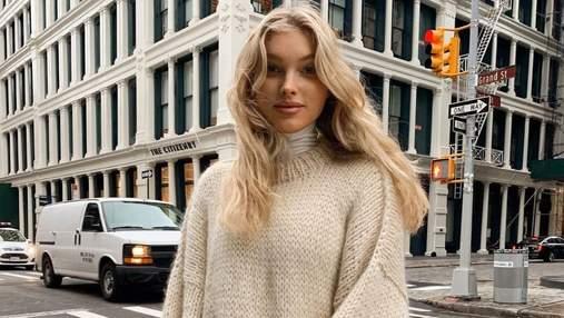 У широкому пальті: Ельза Госк зачарувала повсякденним аутфітом на вулицях Нью-Йорка – фото