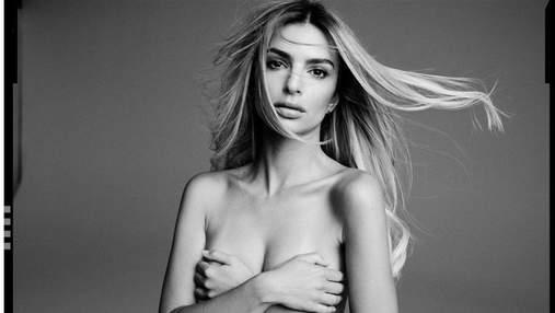 В белом топе: беременная Эмили Ратаковски похвасталась пышной грудью – пикантные фото