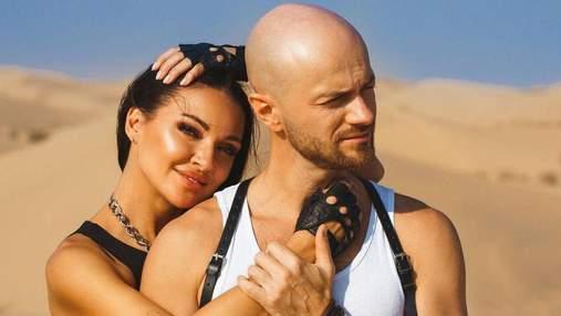 Посеред пустелі в Дубаї: Влад Яма зачарував мережу романтичним фото з дружиною