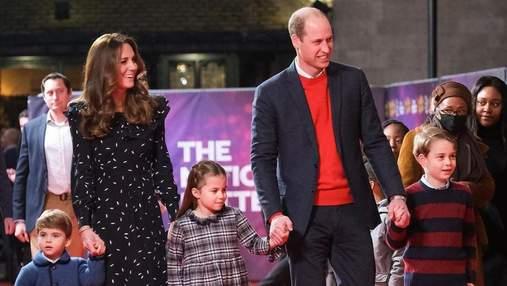 Кейт Міддлтон і принц Вільям представили нову різдвяну листівку: миле фото з дітьми