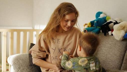 Олена Шоптенко показала зимову прогулянку з сином: милі фото