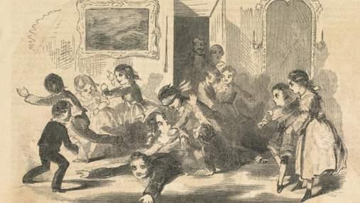 Палаючи родзинки, крадіжка хлібу та страшилки: як розважались британці 150 років тому  на Різдво
