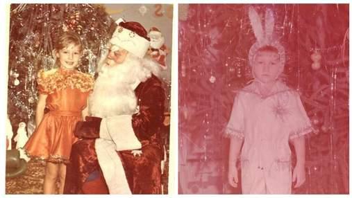 Комаров, Осадча, Остапчук: як зірки виглядали на новорічних ранках – кумедні архівні фото