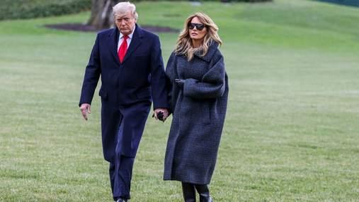 В клетчатом пальто: Мелания Трамп показала безупречный зимний образ – фото