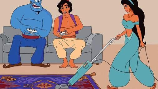 Домохозяйка, а не принцесса: что было бы, если бы персонажи Disney попали в современный мир