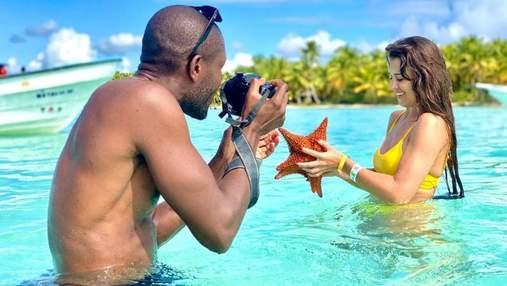 В желтом купальнике: жена Дзидзьо отдыхает в Доминиканской Республике – горячие фото
