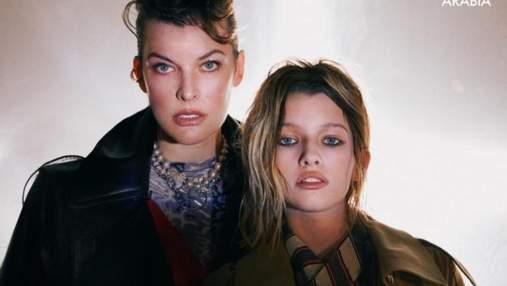 13-летняя дочь Мила Йовович впервые снялась в журнале Vogue: фото