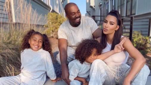 Діти Кардашян і Веста нічого не знають про розлучення батьків
