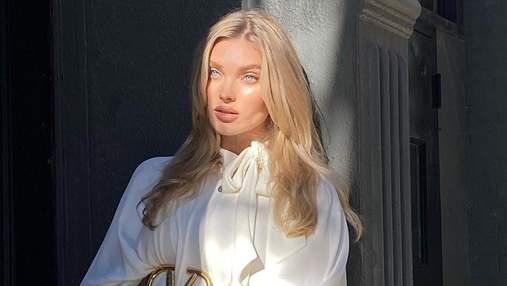 Вагітна Ельза Госк показала першу сукню майбутньої доньки: миле фото