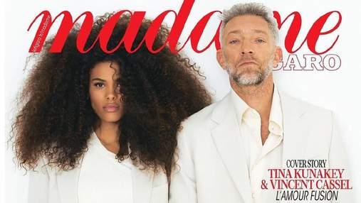 Тіна Кунакі та Венсан Кассель з'явилися на обкладинці глянцю Madame Figaro: неймовірне фото