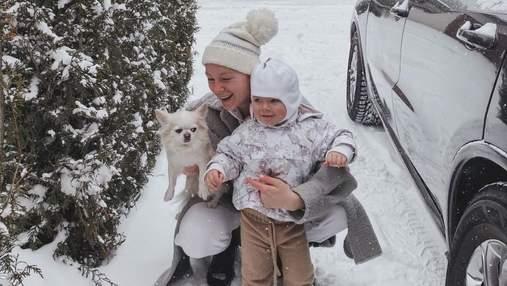Светлана Тарабарова показала атмосферные фото с сыном и рассказала о пробках в Киеве в непогоду