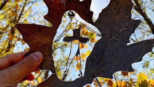 Дивовижний талант: хлопець створює неймовірні композиції на звичайному листі