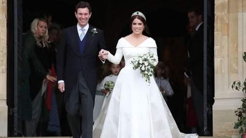 Принцесса Евгения покинула больницу с мужем и малышом