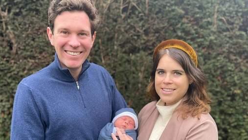 Принцесса Евгения впервые показала новорожденного сына и объявила его имя: трогательные фото