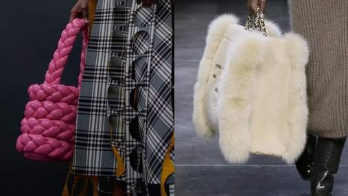 Мех, гигантские тоуты и зеленый цвет: лучшие сумки представлены на Неделе моды в Милане