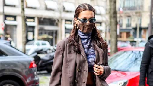 Как носить брючный костюм весной: Белла Хадид показывает беспроигрышное комбо