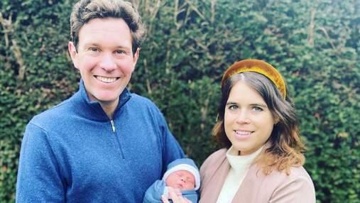 Принцесса Евгения поделилась трогательным фото новорожденного сына