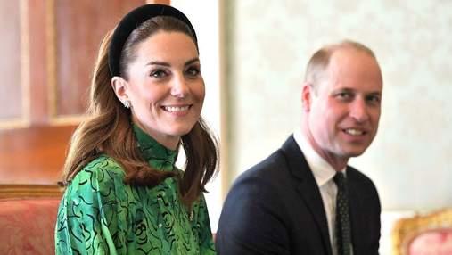 Кейт Міддлтон та принц Вільям привітали з Днем святого Патрика: яскравий look герцогині
