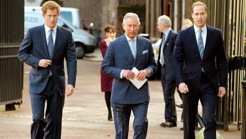 У принца Гарри был телефонный разговор с отцом и братом