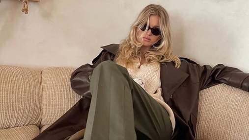 У шкіряному тренчі та штанах хакі: Ельза Госк вразила зухвалим образом