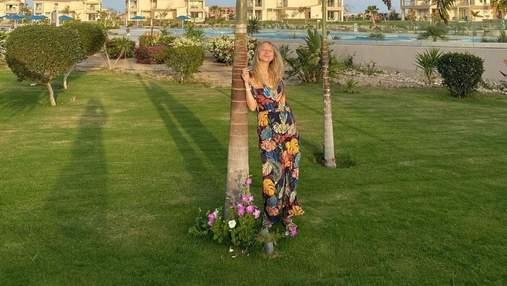 Вагітна дружина Віктора Павліка показала нове яскраве фото з Єгипту