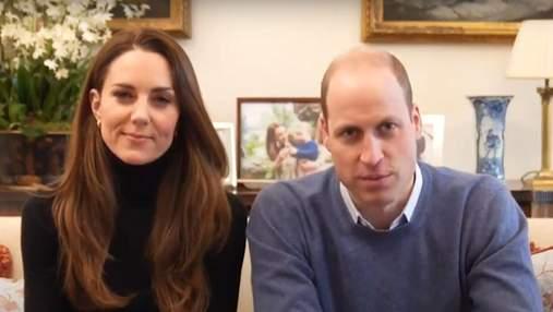 Кейт Миддлтон и принц Уильям записали новое видеообращение: образ герцогини