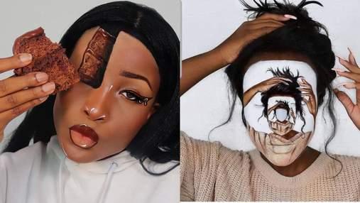 13 годин на макіяж: візажистка створює дивовижні оптичні ілюзії – фото