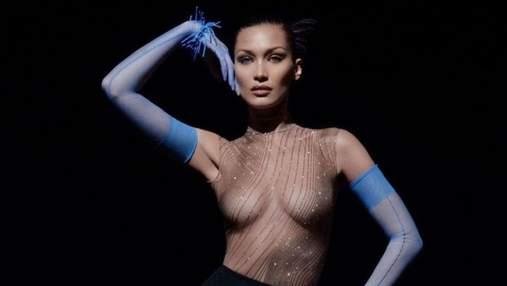 Белла Хадід засвітила оголені груди у прозорому вбранні: сексуальні фото та відео 18+