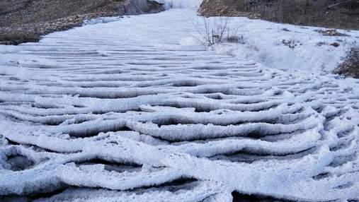 Почти как в Турции: краевед поделился фотографиями калуского Памуккале – соляной реки