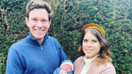 Принцеса Євгенія зачарувала мережу весняним фото з чоловіком та сином