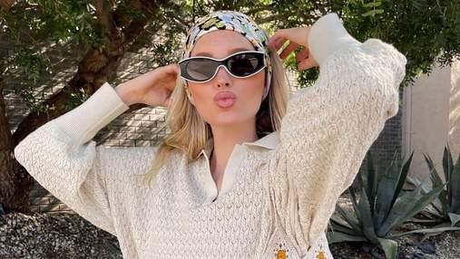 Этой весной мы будем носить вязаный костюм, как у Эльзы Хоск: стильный образ