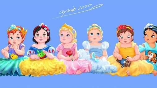 Это слишком мило: как выглядели бы диснеевские принцессы и злодеи в детстве