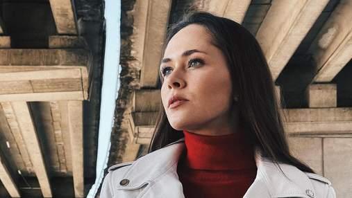 Юлия Санина поразила образом в кожаной куртке за 20 тысяч гривен