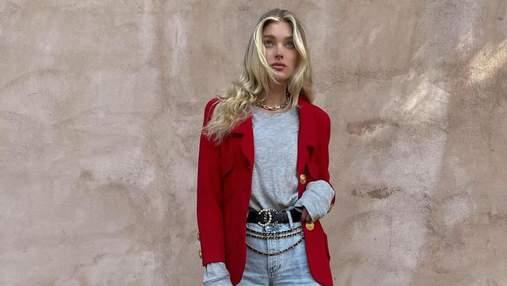 Как разбавить обычный образ ярким жакетом: увлекательный образ показывает блондинка Эльза Хоск