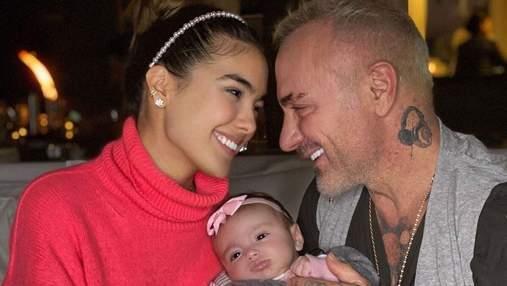 Родилась с патологией: маленькая дочь Джанлуки Вакки перенесла операцию
