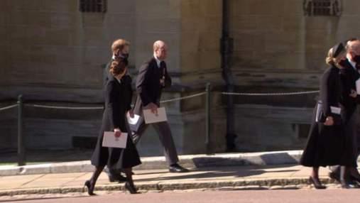 Герцоги Кембриджские и принц Гарри вместе покинули часовню после похорон принца Филиппа: фото