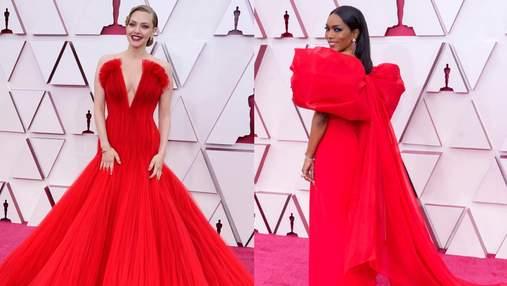 Головний колір ночі Оскару-2021: вишукані образи зірок у червоних сукнях