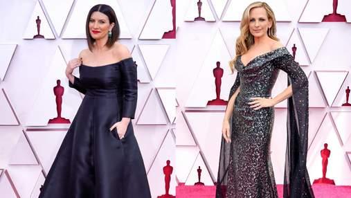 Елегантні та розкішні: знаменитості у чорних сукнях на червоній доріжці Оскару-2021